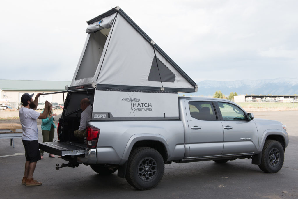 Toyota Tacoma Canopy >> Daily Tacoma GFC Camper Rentals - Hatch Adventures Trip Hub